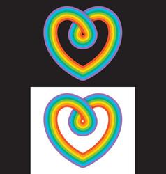 Everlasting love rainbow infinity heart symbol vector