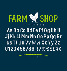 Farm shop font 001 vector