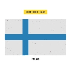 Finnish grunge flag with little scratches on vector image