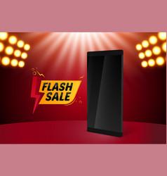 Flash sale mobile background vector