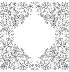 Flower design lace frame vector image