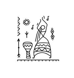 folk ethnic dance for your design vector image