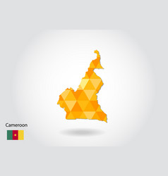 geometric polygonal style map of cameroon low vector image