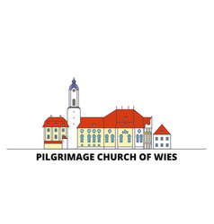 germany steingaden pilgrimage church of wies vector image