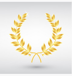 gold laurel wreath symbol victory and vector image