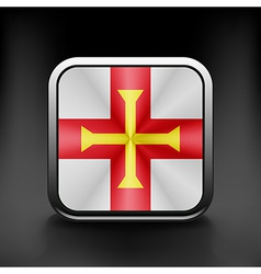 Guernsey icon flag national travel icon country vector