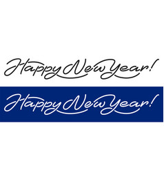 happy new year artistic lettering line design vector image