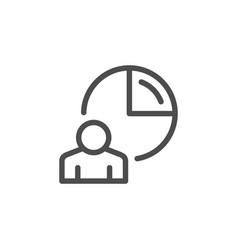 human statistics line icon vector image