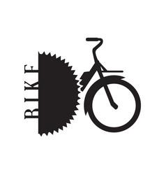 isolated bike logo vector image