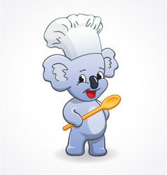 Koala chef cook cartoon character vector