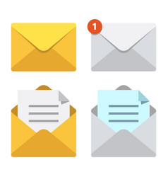 Letter in mail envelope mailbox notification or vector