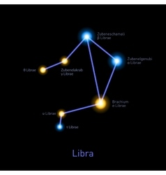 Libra Constellation Space Stars Background vector