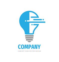 lightbulb concept logo template design electric vector image
