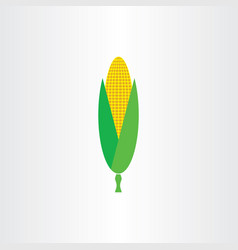 maize corn logo icon element symbol vector image