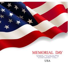 memorial day flag usa vector image