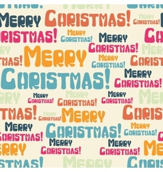 Merry Christmas Seamless Pattern vector image