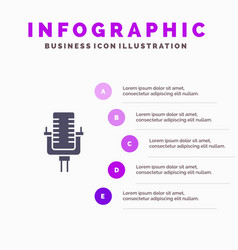 microphone multimedia record song infographics vector image