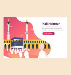 Modern flat design concept of hajj and umrah vector