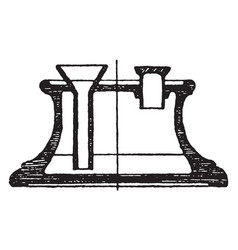 modern inkstand instruments vintage engraving vector image