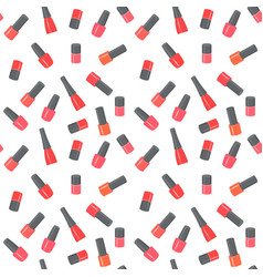 nail polish bottles seamless pattern vector image