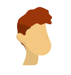 nice man face with haistyle vector image