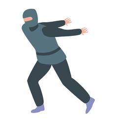 Ninja jump icon isometric style vector