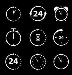 non stop icons black vector image