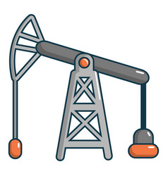oil pump icon cartoon style vector image