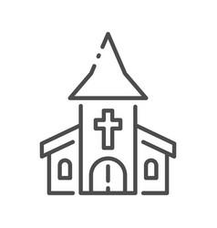 Outline church vector