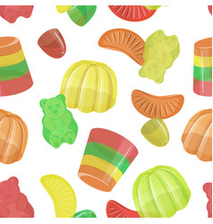 Pattern beautiful realistic jelly assortement vector