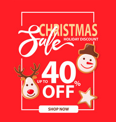 poster christmas sale and holiday discount vector image