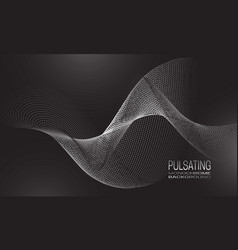 Pulsating monochrome background design with wave vector