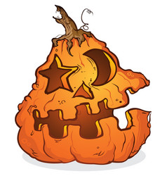 Pumpkin jackolantern cartoon character vector