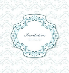 romantic a invitation for your design vector image