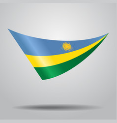Rwandan flag background vector
