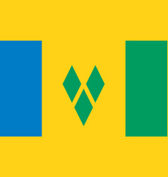 saint vincent and grenadines flag icon in vector image