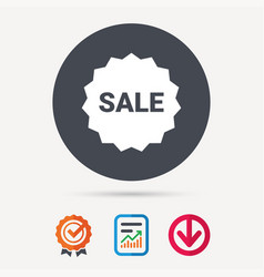 Sale icon special offer star sign vector