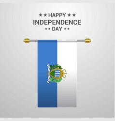 San marino independence day hanging flag vector