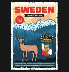 Scandinavia travel adventure sweden city tours vector