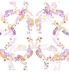 seamless romantic pattern vector image
