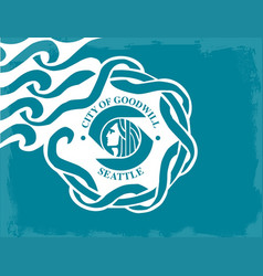 Seattle city flag vector