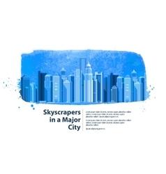 skyscrapers in a major city vector image