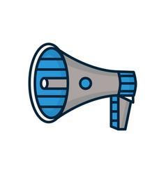 speaker megaphone modern line vector image