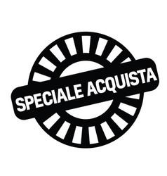 Special buy stamp in italian vector
