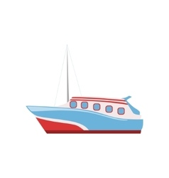 Speed Boat As A National Canadian Culture Symbol vector