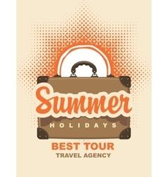 Summer holidays and sun vector