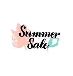 summer sale calligraphy vector image