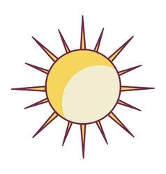 Summer sun isolated icon vector
