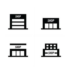 supermarket icon vector image