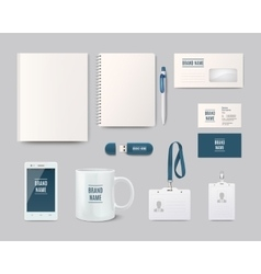 Template objects for corporate identity vector
